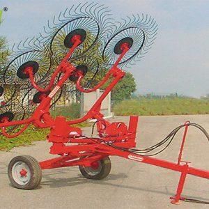 Grebla GIRASOLE tractată, cu cărucior – Maschio Gaspardo