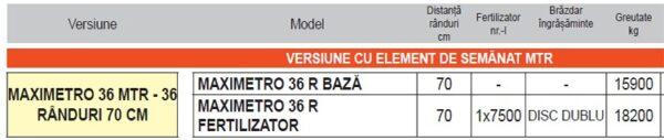 Semanatoare pneumatica de precizie pentru plante prasitoare MAXIMETRO – Maschio Gaspardo