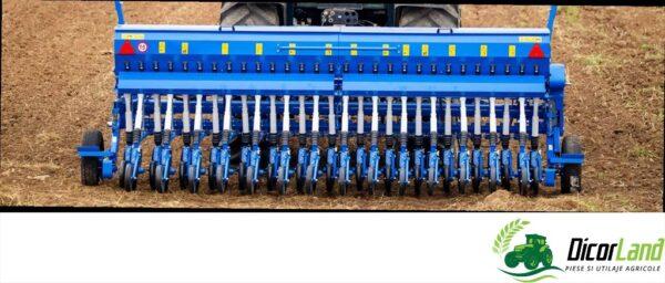 Semanatoare de plante paioase SUP 29DK DIVA (cu podet, scara, lant de tasare sau roti de tasare) – Mecanica Ceahlau