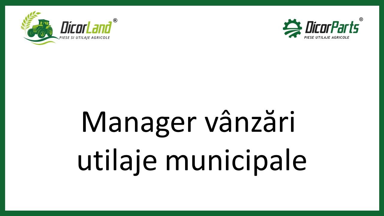 Manager vanzari echipamente municipale