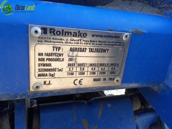 Disc Rolmako U693