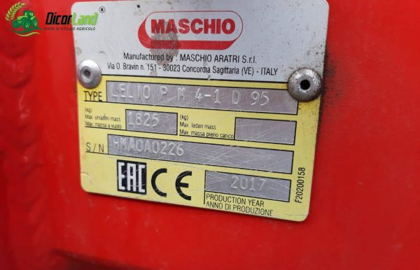 Plug Lelio M4+1 D95 – Maschio Gaspardo